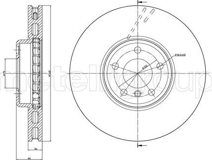 Cifam 800-1327C - Bremžu diski interparts.lv