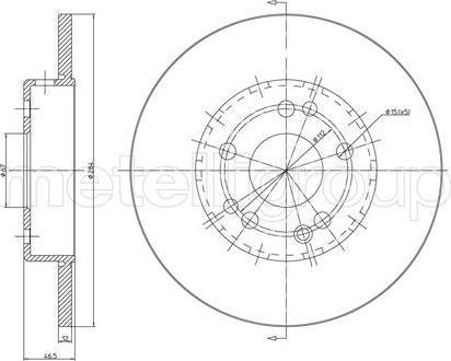 Cifam 800-124C - Bremžu diski interparts.lv