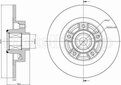 Cifam 800-1232 - Bremžu diski interparts.lv
