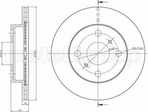 Cifam 800-1735 - Bremžu diski interparts.lv