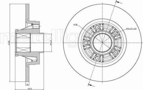 Cifam 800-844 - Bremžu diski interparts.lv