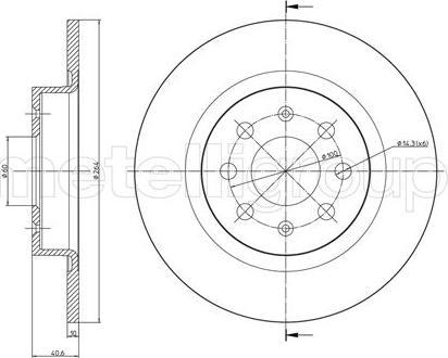 Cifam 800-857C - Bremžu diski interparts.lv