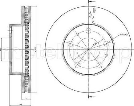 Cifam 800-885C - Bremžu diski interparts.lv