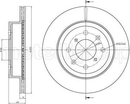 Cifam 800-839C - Bremžu diski interparts.lv