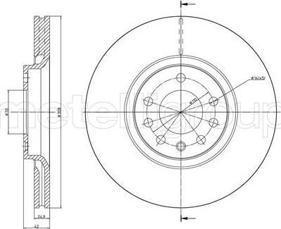 Cifam 800-826C - Bremžu diski interparts.lv