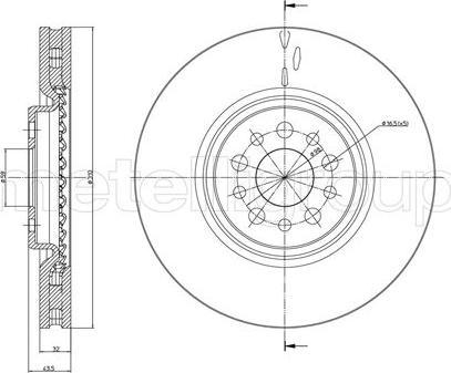 Cifam 800-821C - Bremžu diski interparts.lv