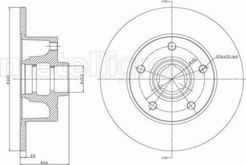 Cifam 800-394 - Bremžu diski interparts.lv