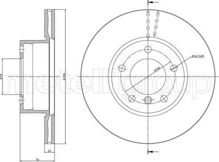 Cifam 800-396C - Bremžu diski interparts.lv
