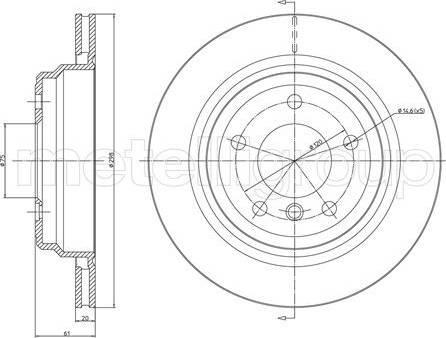 Cifam 800-398C - Bremžu diski interparts.lv