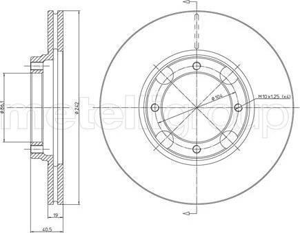 Cifam 800-393 - Bremžu diski interparts.lv