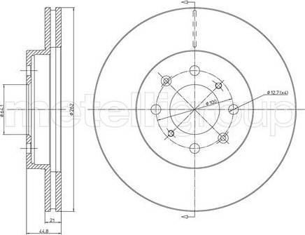 Cifam 800-344C - Bremžu diski interparts.lv