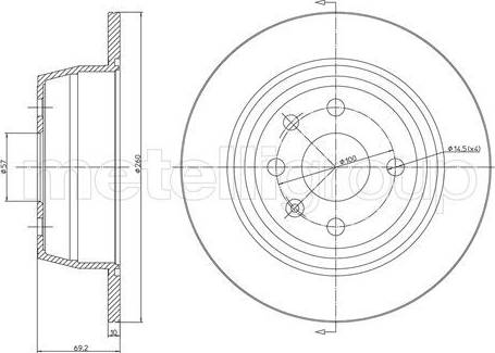 Cifam 800-350 - Bremžu diski interparts.lv