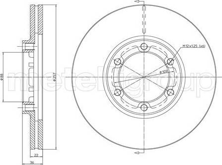 Cifam 800-351 - Bremžu diski interparts.lv