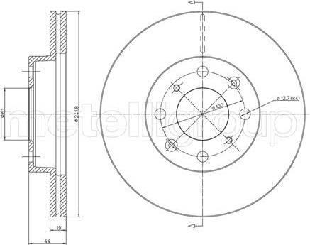 Cifam 800-306 - Bremžu diski interparts.lv