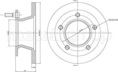 Cifam 800-308 - Bremžu diski interparts.lv