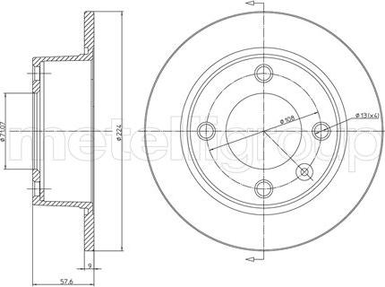 Cifam 800-319 - Bremžu diski interparts.lv