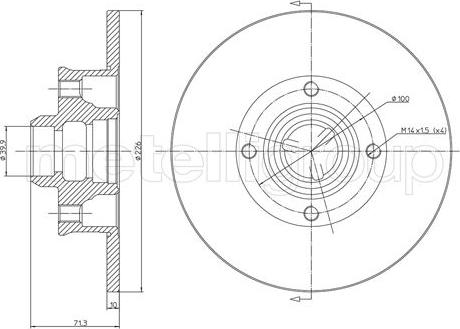 Cifam 800-312 - Bremžu diski interparts.lv