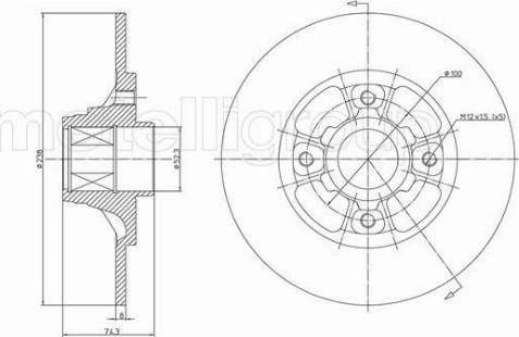 Cifam 800-383 - Bremžu diski interparts.lv