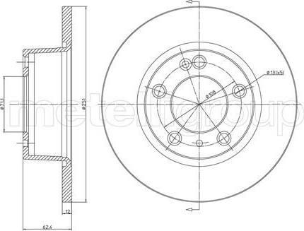 Cifam 800-335 - Bremžu diski interparts.lv