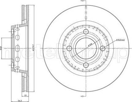 Cifam 800-330 - Bremžu diski interparts.lv