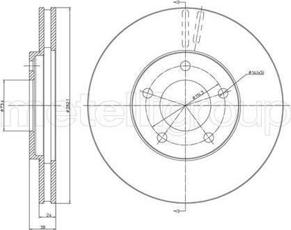 Cifam 800-331 - Bremžu diski interparts.lv