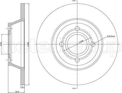 Cifam 800-329 - Bremžu diski interparts.lv