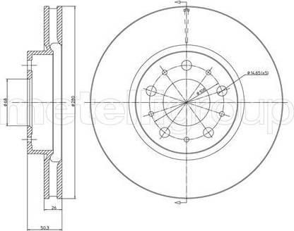 Cifam 800-375C - Bremžu diski interparts.lv