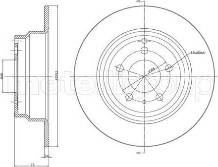 Cifam 800-376C - Bremžu diski interparts.lv