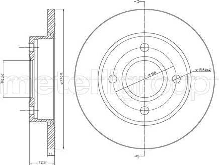 Cifam 800-377 - Bremžu diski interparts.lv