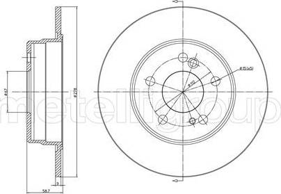 Cifam 800-299 - Bremžu diski interparts.lv