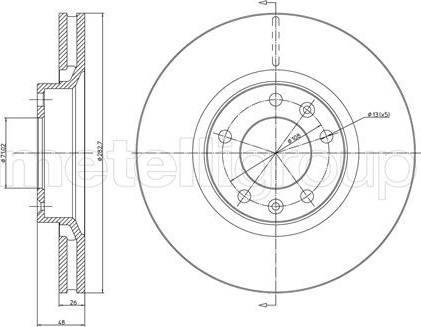 Cifam 800-295 - Bremžu diski interparts.lv