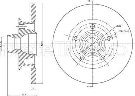 Cifam 800-292 - Bremžu diski interparts.lv