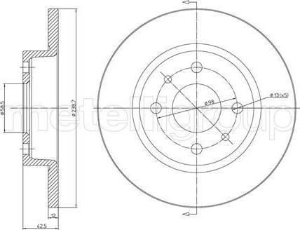 Cifam 800-205 - Bremžu diski interparts.lv