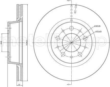 Cifam 800-201 - Bremžu diski interparts.lv