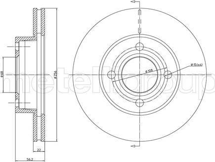 Cifam 800-234 - Bremžu diski interparts.lv