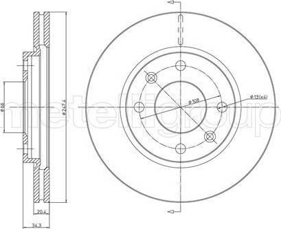 Cifam 800-238 - Bremžu diski interparts.lv