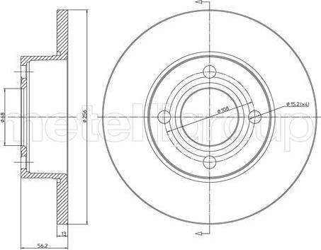 Cifam 800-233 - Bremžu diski interparts.lv