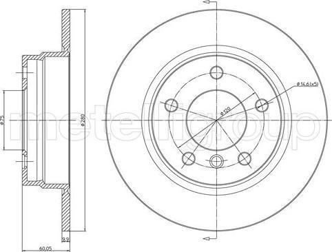 Cifam 800-229C - Bremžu diski interparts.lv