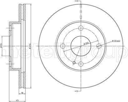 Cifam 800-276 - Bremžu diski interparts.lv