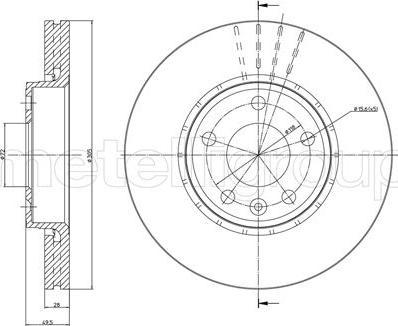Cifam 800-798 - Bremžu diski interparts.lv