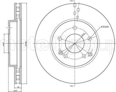 Cifam 800-701C - Bremžu diski interparts.lv