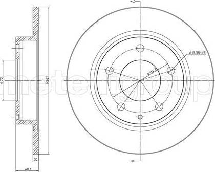 Cifam 800-786 - Bremžu diski interparts.lv