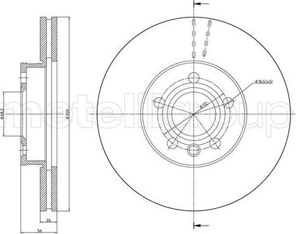 Cifam 800-736C - Bremžu diski interparts.lv