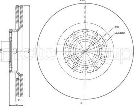 Cifam 800-726C - Bremžu diski interparts.lv
