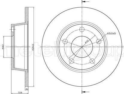 Cifam 800-774C - Bremžu diski interparts.lv