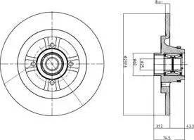 Delphi BG9025RSC - Bremžu diski interparts.lv