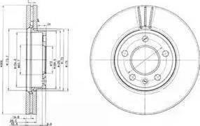 TRW DF4308S - Bremžu diski interparts.lv