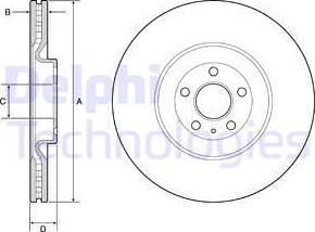 Delphi BG9233C - Bremžu diski interparts.lv