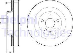 Delphi BG4950C - Bremžu diski interparts.lv