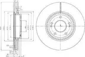 TRW DF6108S - Bremžu diski interparts.lv